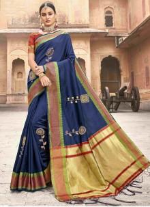 Jacquard Silk Patch Border Classic Saree