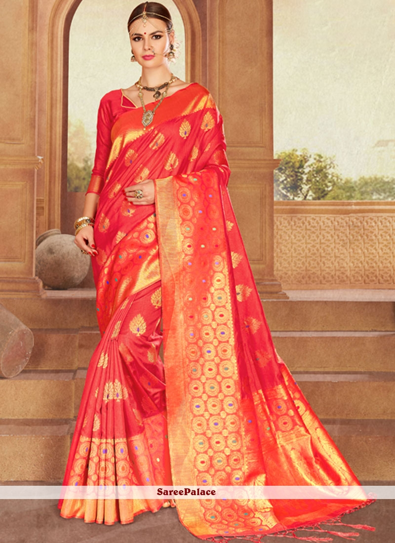 Jacquard Traditional Designer Saree