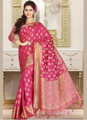 Jacquard Weaving Rani Classic Saree