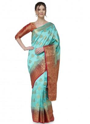 Jacquard Work Designer Traditional Saree