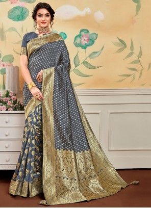 Jacquard Work Traditional Designer Saree