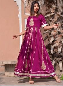Jamawar Silk Gown