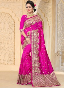 Jazzy Hot Pink Traditional Designer Saree