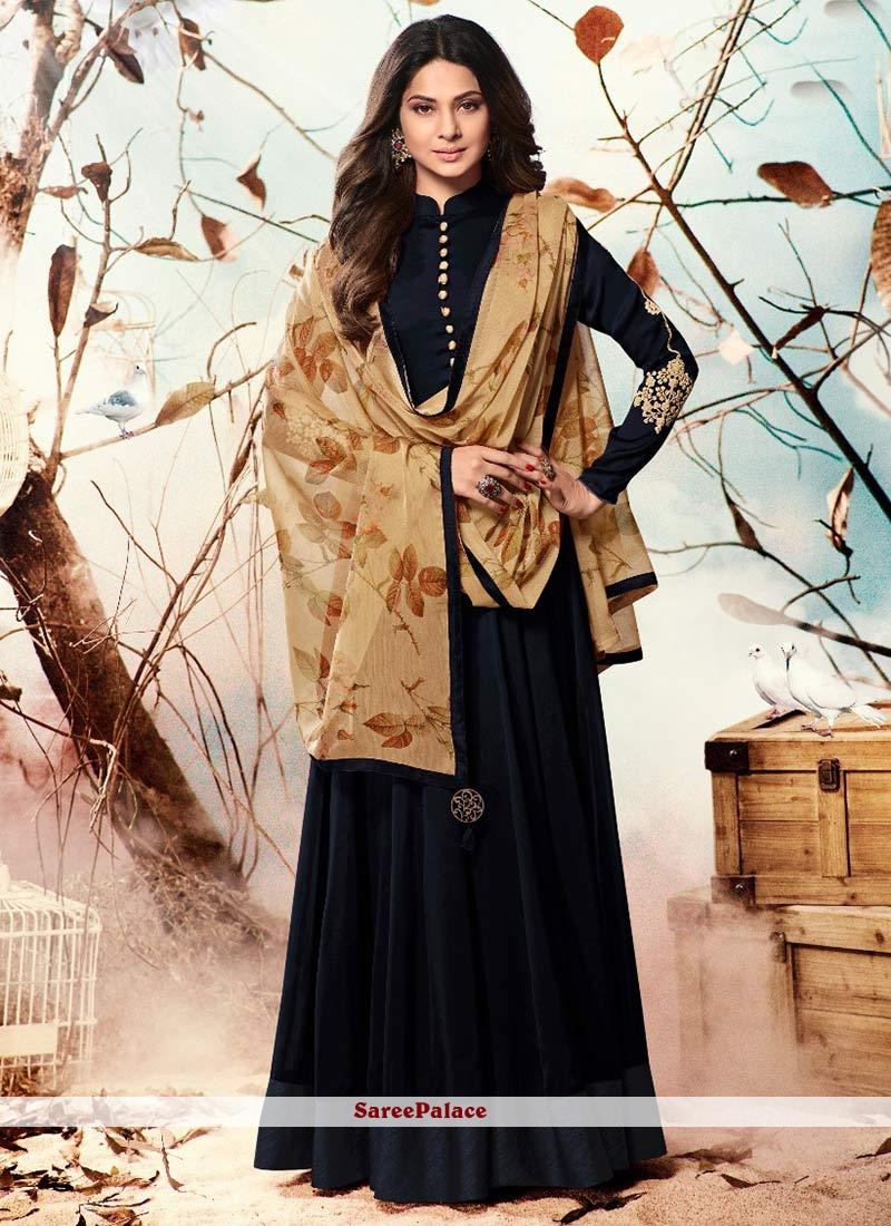 89fff8476b Buy Jennifer Winget Faux Georgette Floor Length Anarkali Suit Online