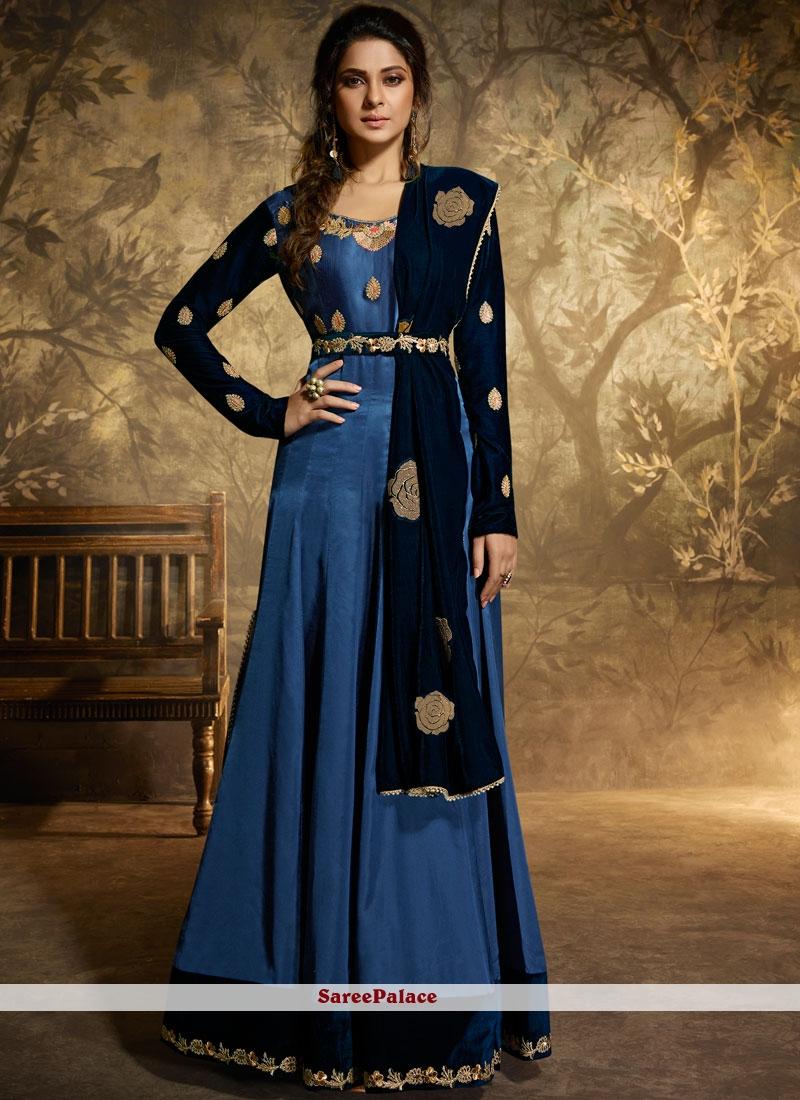 Jennifer Winget Floor Length Anarkali Suit For Reception