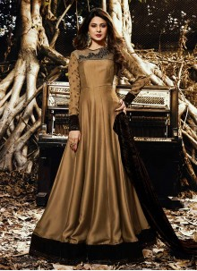 Jennifer Winget Resham Work Art Silk Floor Length Anarkali Suit