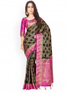Kanchipuram silk Weaving Work Designer Saree