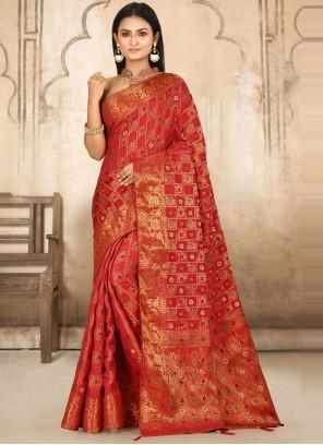 Kanjivaram Silk Ceremonial Traditional Designer Saree