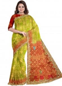 Kanjivaram Silk Handwork Designer Saree