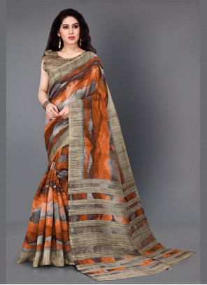 Cotton Silk Casual Multi Colour Designer Saree
