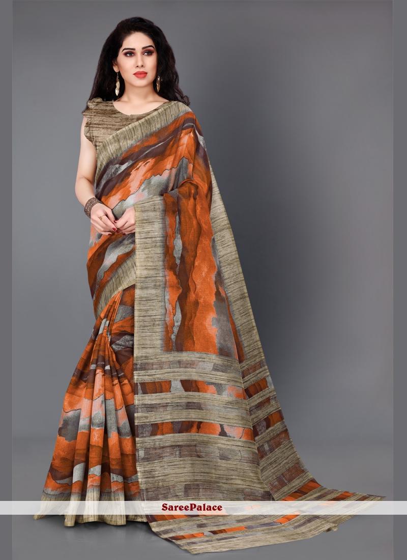 Khadi Silk Casual Multi Colour Designer Saree