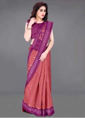 Khadi Silk Casual Printed Saree