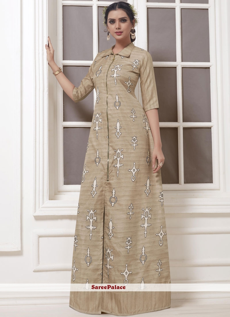 1b5393072d Buy Khadi Silk Party Wear Kurti Online