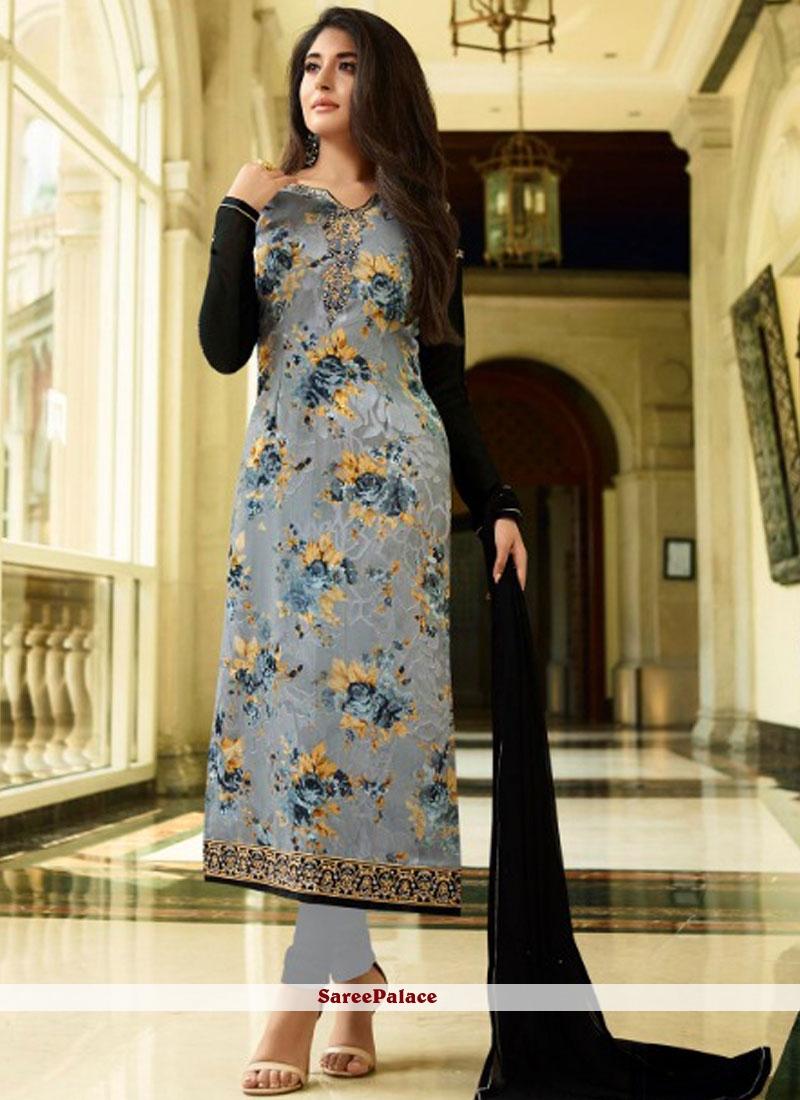 Kritika Kamra Brasso Print Designer Straight Suit
