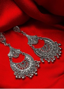 Kundan Ear Rings in Silver