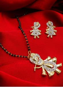 Kundan Mangalsutra in Gold