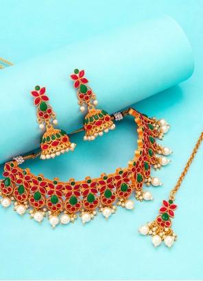 Kundan Multi Colour Necklace Set