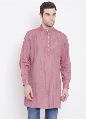 Kurta Printed Cotton in Pink