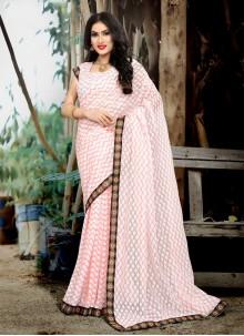 Lace Pink Classic Saree