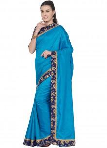 Blue Lace Festival Trendy Saree