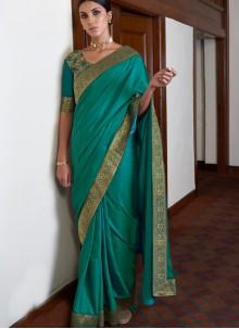 Lace Green Art Silk Classic Saree