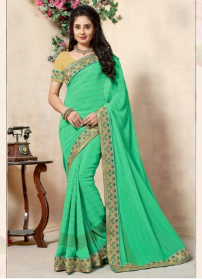 Green Lace Traditional Saree