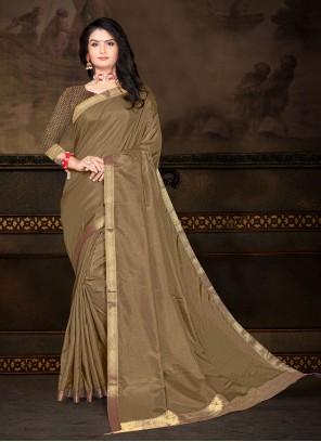 Green Lace Vichitra Silk Classic Saree