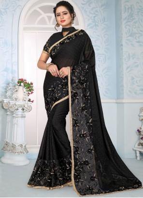 Black Lace Wedding Traditional Saree