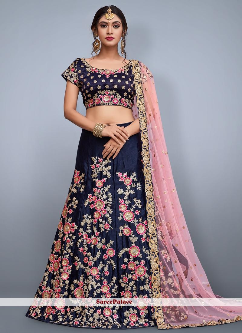 Lace Work Art Silk Lehenga Choli
