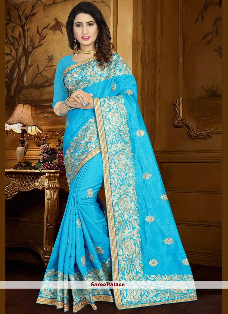 201d9a8a6ed583 Buy Lace Work Art Silk Traditional Designer Saree Online