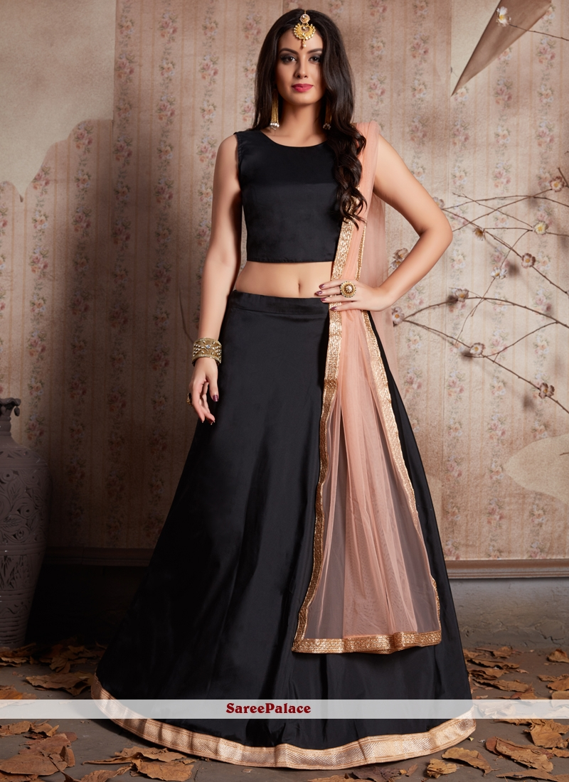 21c7cd67d5 Buy Lace Work Black Lehenga Choli Online