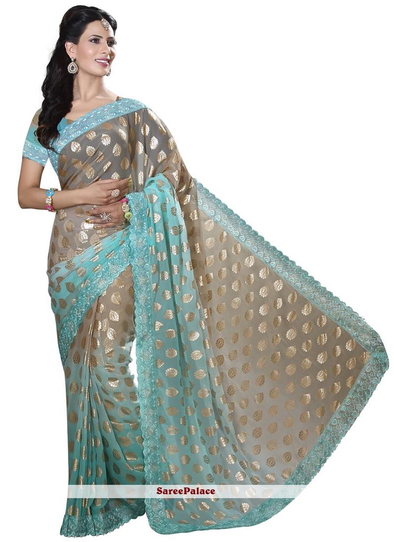 Lace Work Designer Traditional Saree
