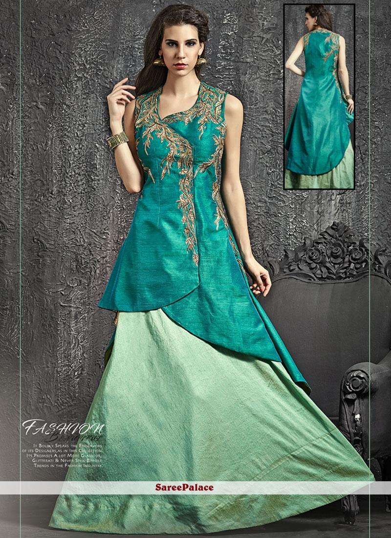 Latest Raw Silk Cutdana Work Lehenga Choli