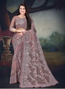 Lavender Resham Classic Designer Saree