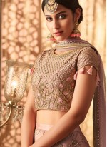 Lavender Embroidered Sangeet Designer Lehenga Choli