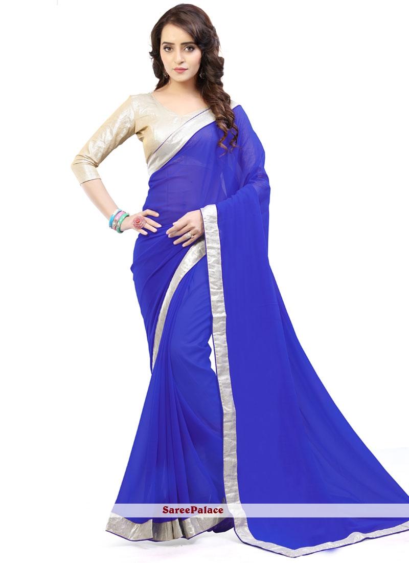 Lavish Faux Georgette Blue Casual Saree