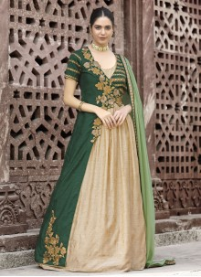 Lavish Resham Work Fancy Fabric Floor Length Anarkali Suit