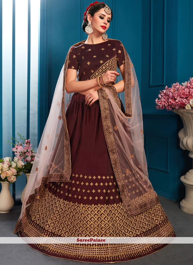 Brown Lehenga Choli For Bridal