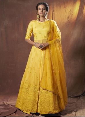 Yellow Lehenga Choli For Engagement
