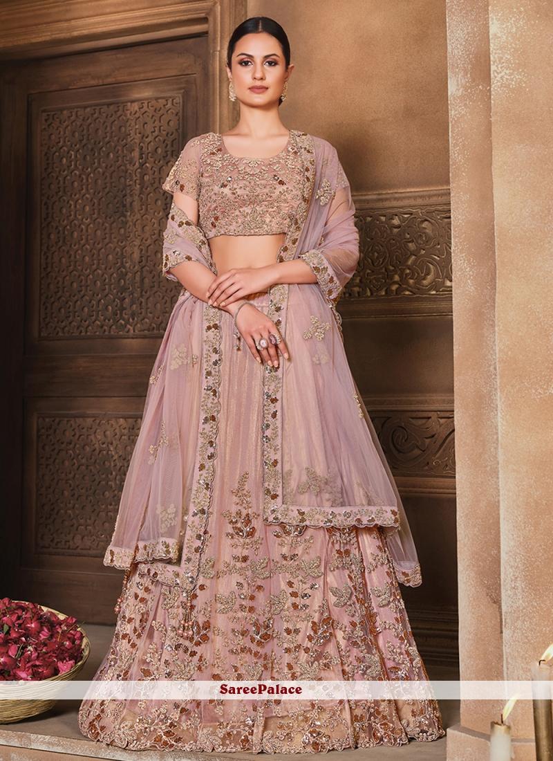 Pink Lehenga Choli For Engagement