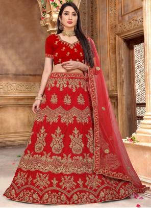 Red Lehenga Choli For Mehndi