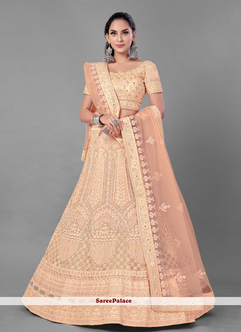 Peach Lehenga Choli For Mehndi