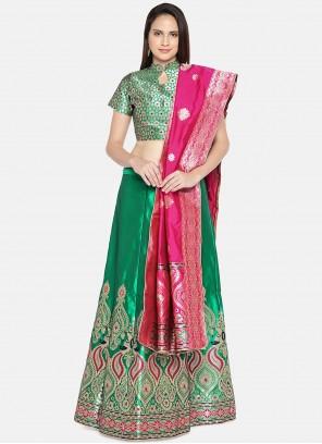 Green Lehenga Choli For Mehndi