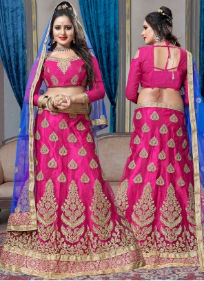 Hot Pink Lehenga Choli For Sangeet