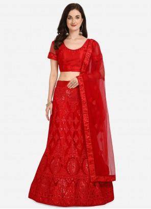 Red Lehenga Choli For Sangeet