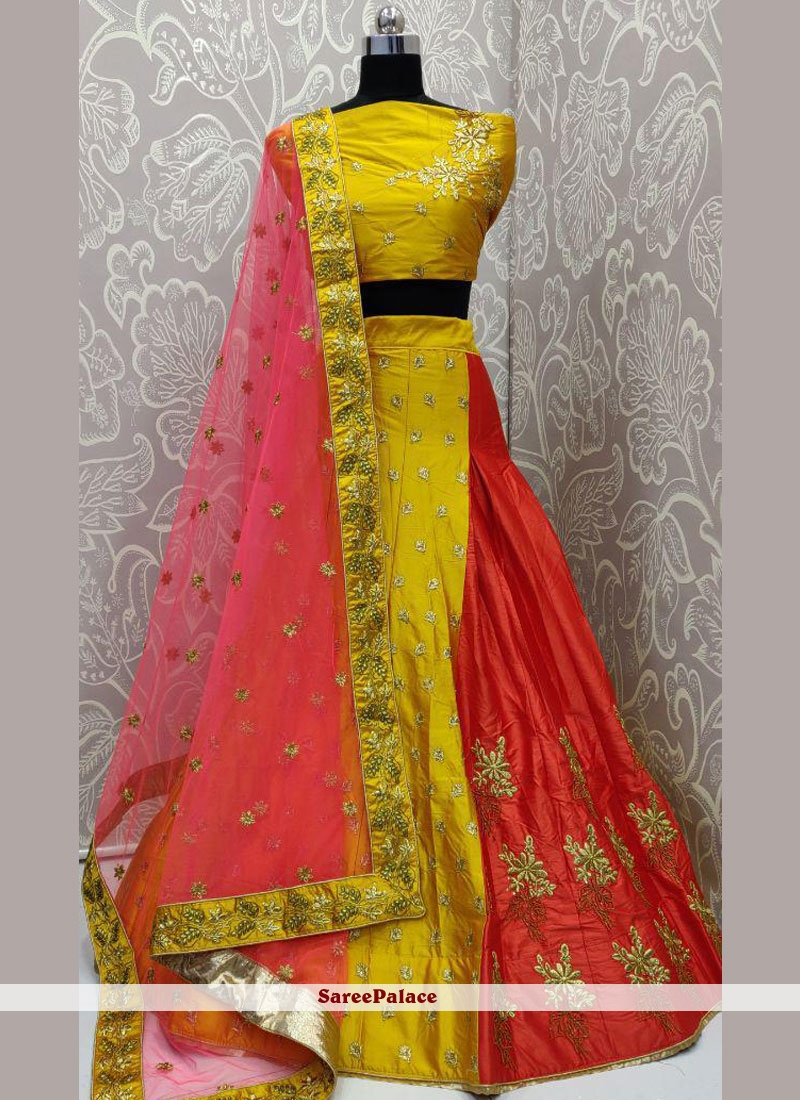 Yellow Lehenga Choli For Sangeet