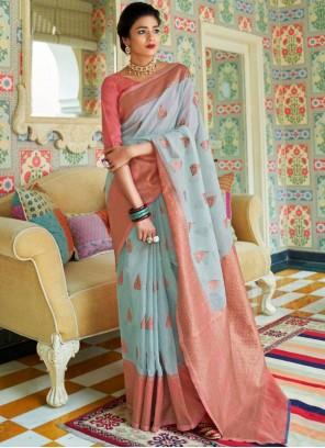 Linen Ceremonial Traditional Designer Saree