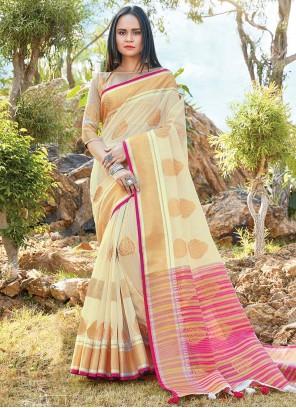 Linen Classic Saree