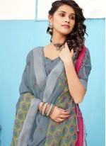 Linen Grey Classic Saree
