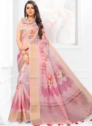 Linen Multi Colour Casual Saree